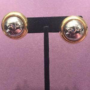 Silver/gold tone post earrings.  2/$10 Sale